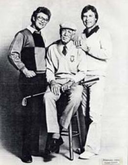 A famous picture of Penick with his two most prominent pupils, Tom Kite and Ben Crenshaw.