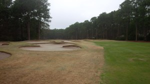 66 bunkers defend the Rees Jones design, including 12 bunkers on the short par 5 12th hole.