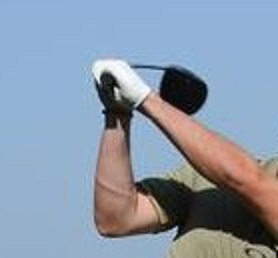 The elusive flat wrist of a golf swing on plane.