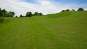 "This view of the 11th fairway depicts one of Eagle Ridge's more ""gently rolling"" fairway slopes."
