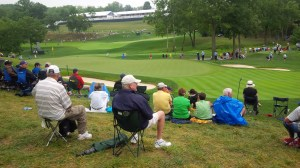 From my perch behind the 14th green, I could also see the 14th tee, 13th green, 15th tee, and 16th green.