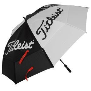 I won one of these last year at a scramble, and has turned out to be a good little golf umbrella: sturdy, compact, effective.