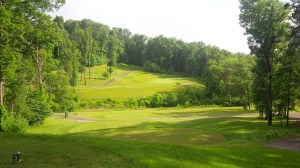 The tee shot on the par three 16th hole is intimidating and difficult, but beautiful at the same time.