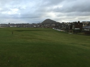 I've not yet played The Old Course, but North Berwick's 18th tee has to be every bit the knee-knocker as the Road Hole or the 18th tee shot.