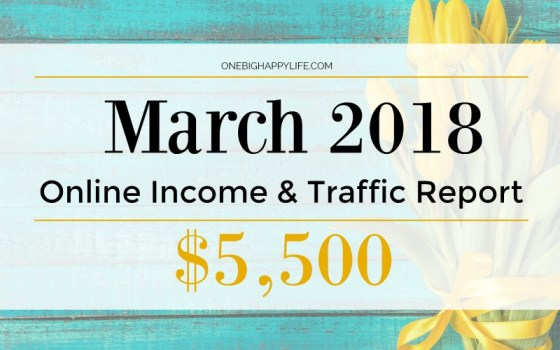 March 2018 Traffic and Online Income Report – $5,500