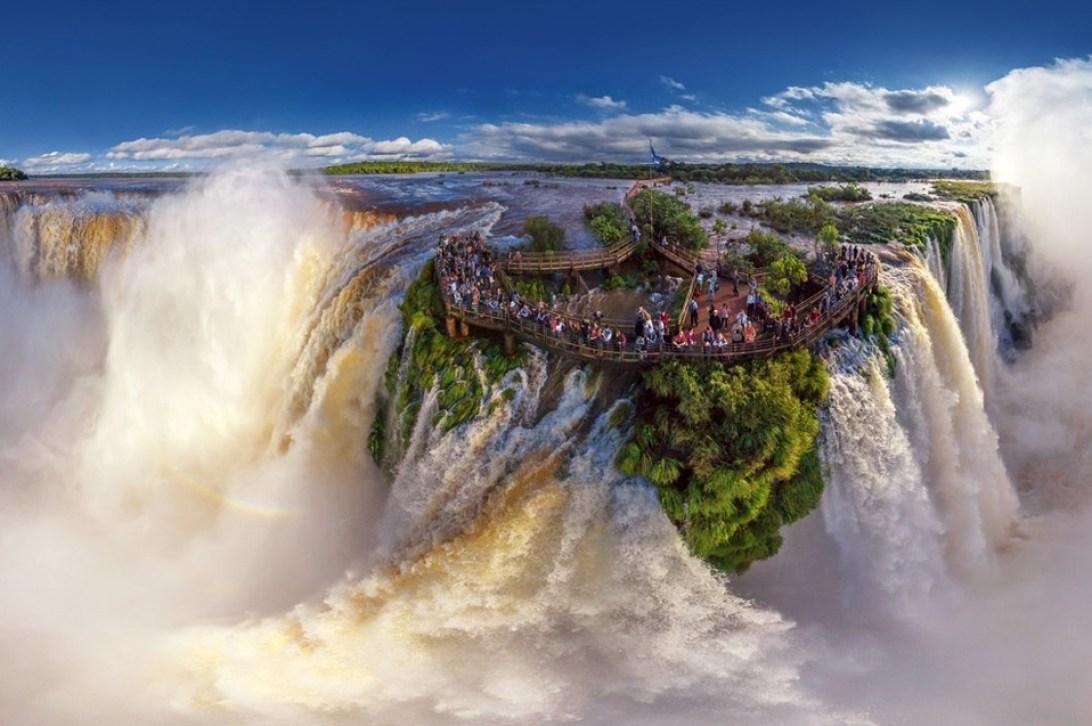 iguazu falls, border of brazil and argentina photo