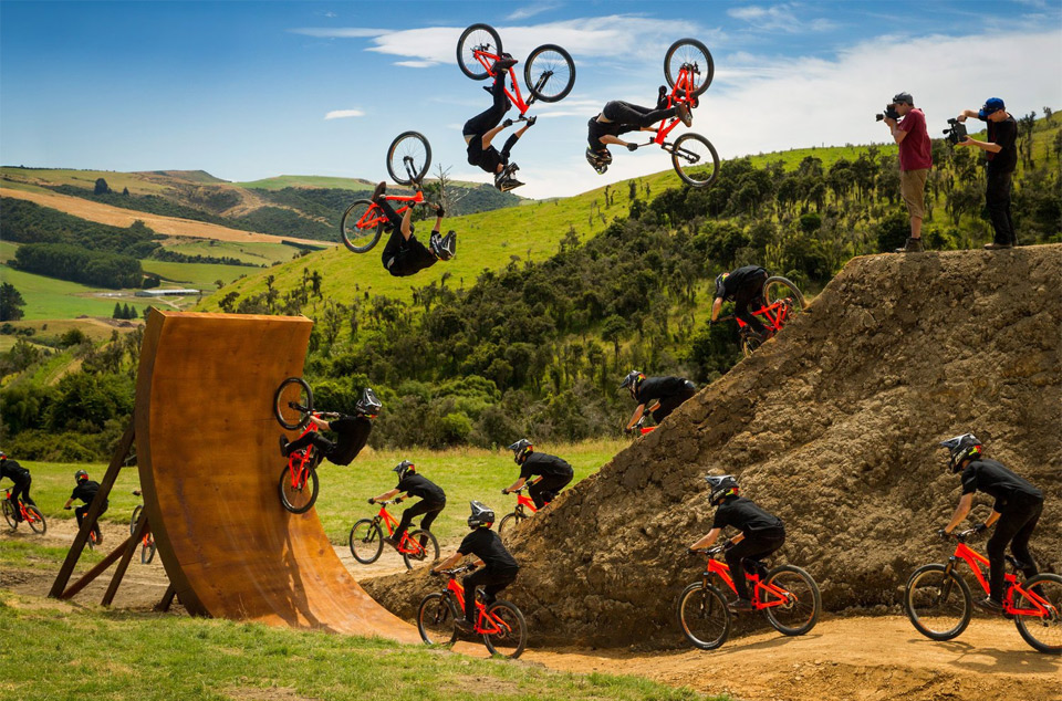 bike jump and flip transfer