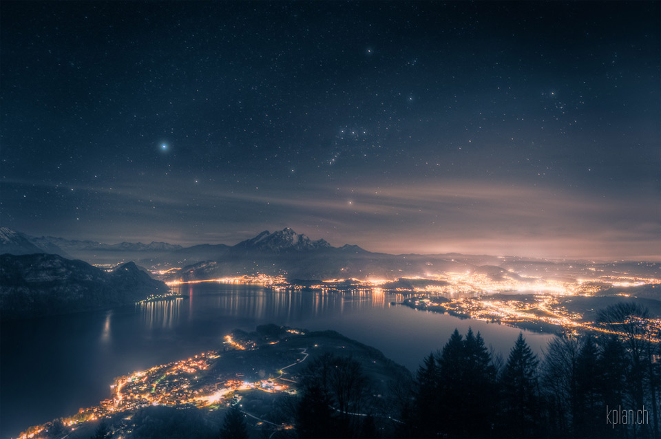 lake lucerne and orion, switzerland