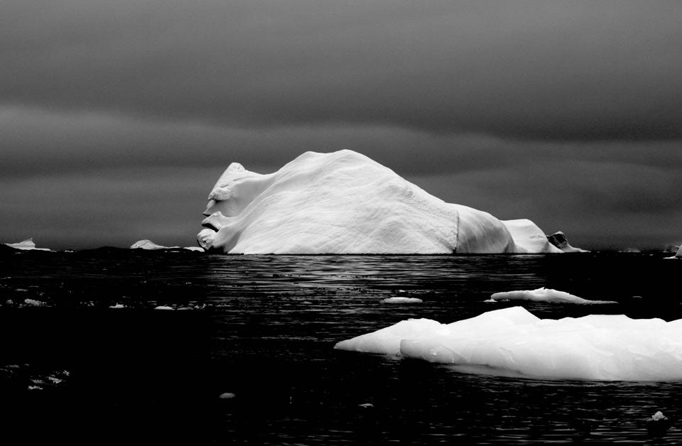 face on a iceberg, antarctica