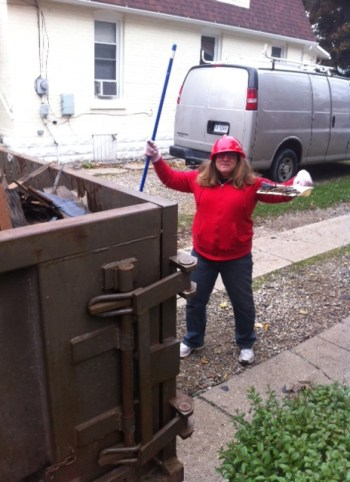 Char Brooks cleaning up at Habitat for Humanity