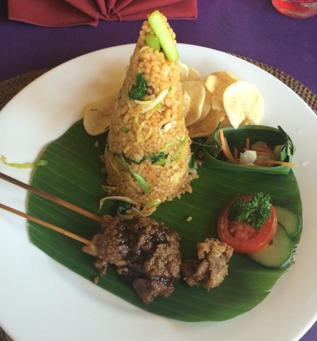 Meal at the Rice Terraces, Bali