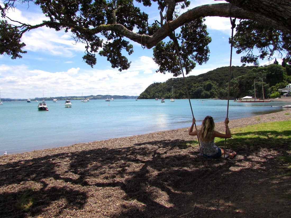 Swinging in Russell, New Zealand