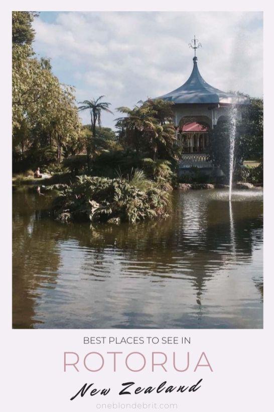 Best places Rotorua New Zealand Pin