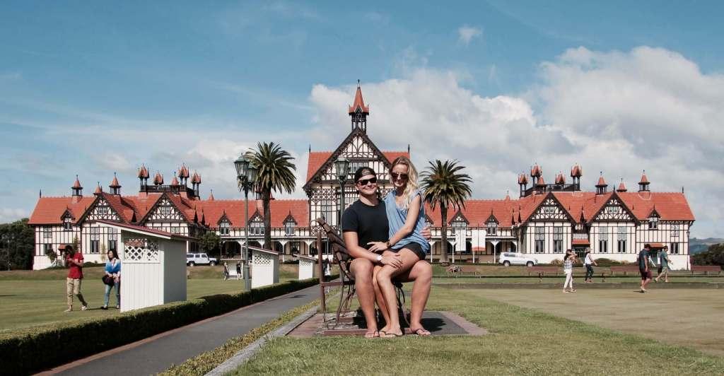 Couple at Rotorua museum