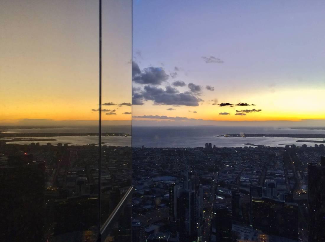 Purple sunset in Melbourne Australia