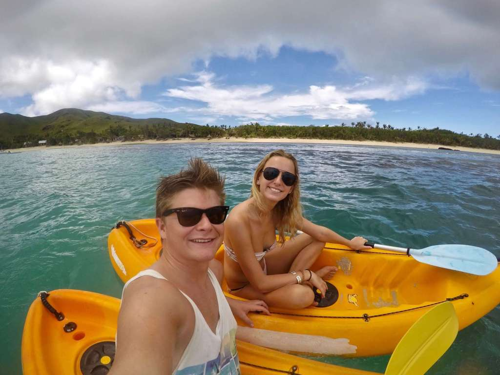 Kayaking in Blue Lagoon Fiji