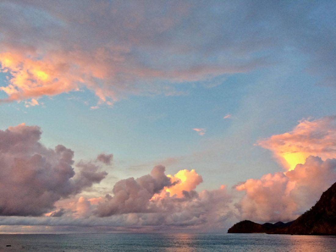 Pink sunset Naukacuvu Island
