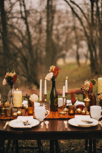 amber table spread