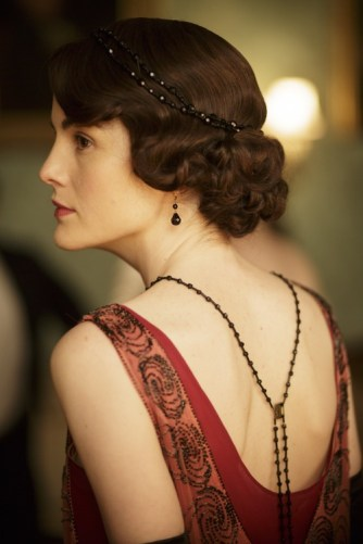 Lady Mary Crawley red dress