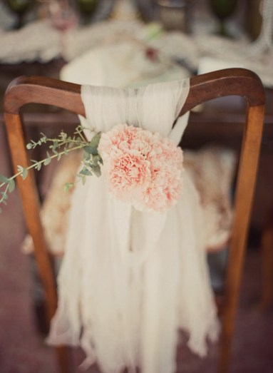 wedding chair sash tulle edited