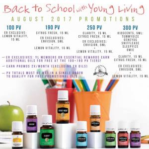 Prepping for Back to School: August 2017 Promos