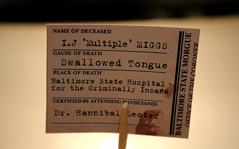 silence of the lambs exhibit label