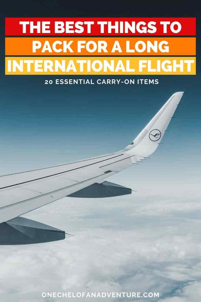 carry-on essentials for international flight