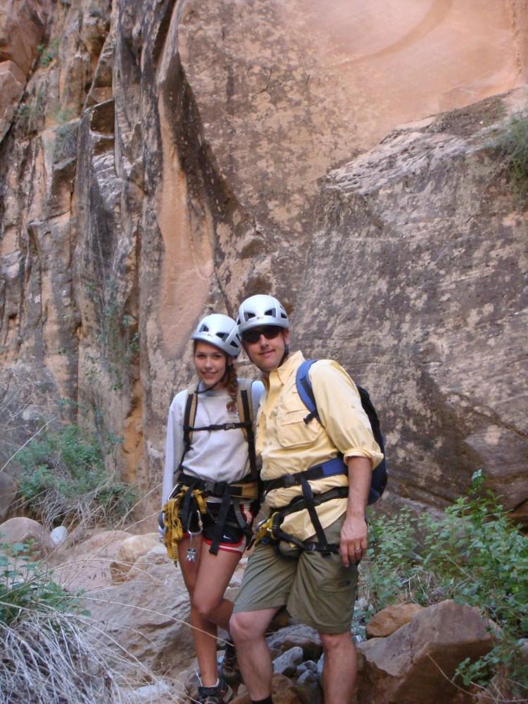 canyoneering as a teen
