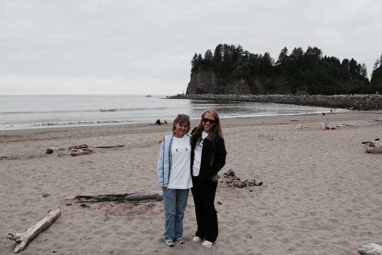 Me and Aunt First Beach | One Chel of an Adventure