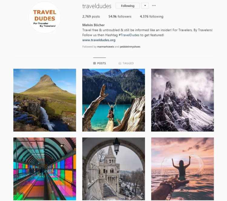 Instagram Accounts That Feature Travel photos-