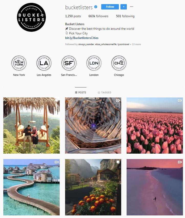 Instagram Accounts That Feature Travel photos- bucketlisters
