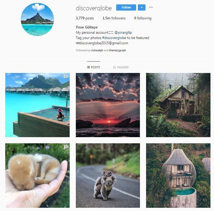 Instagram Accounts That Feature Travel photos-discoverglobe