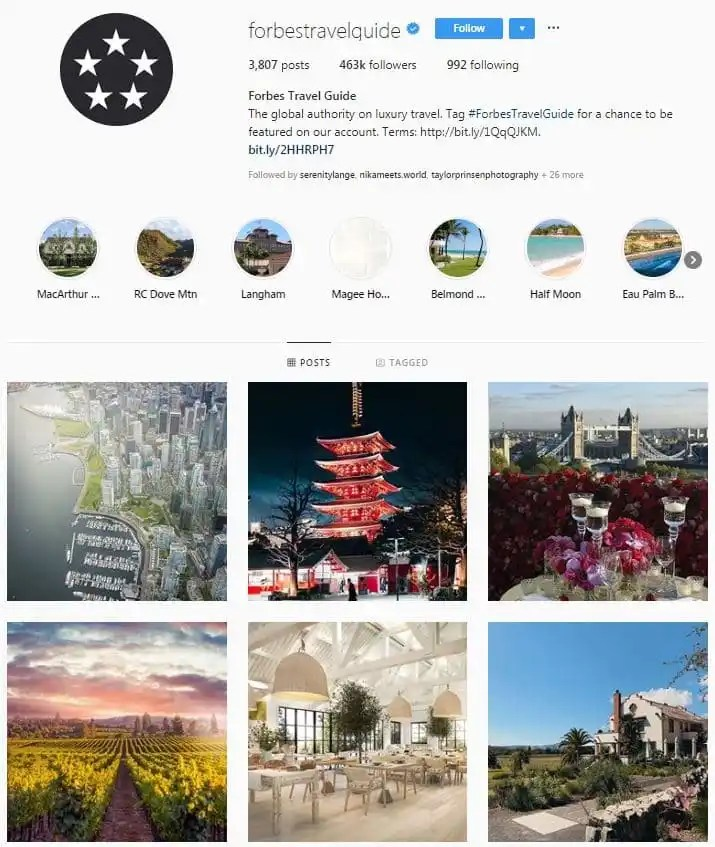 Instagram Accounts That Feature Travel photos- forbestravel