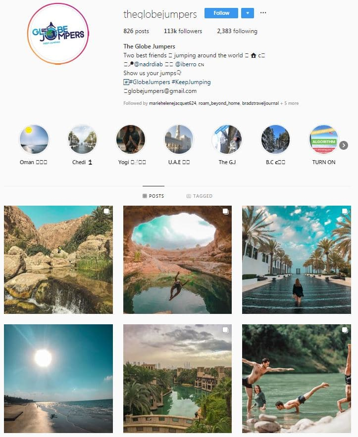 Instagram Accounts That Feature Travel photos-globejumpers