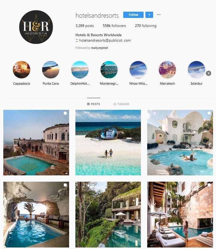 Instagram Accounts That Feature Travel photos- hotels