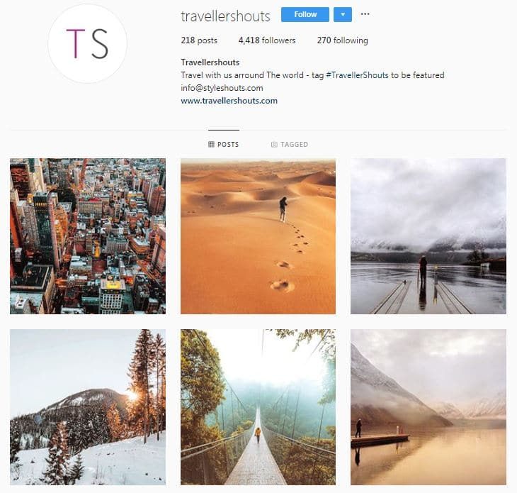Instagram Accounts That Feature Travel photos-travelershouts