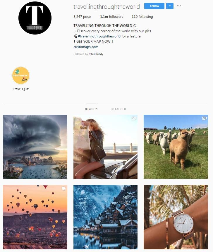 Instagram Accounts That Feature Travel photos-travelworld
