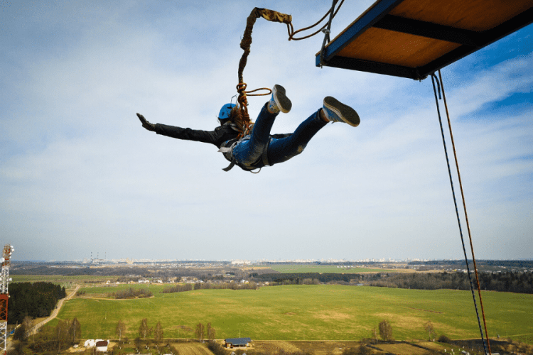 Bungee jumping covered by travel insurance