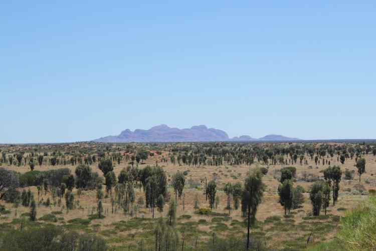 Views of Kata tjuta from Uluru campsite