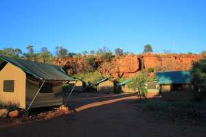 Kings Canyon Campsite on 3 day tour