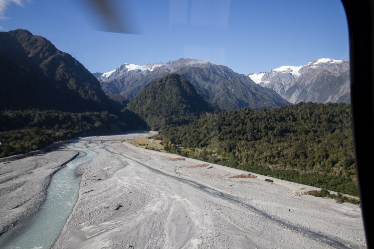 Views of Franz Josef from Helicopter
