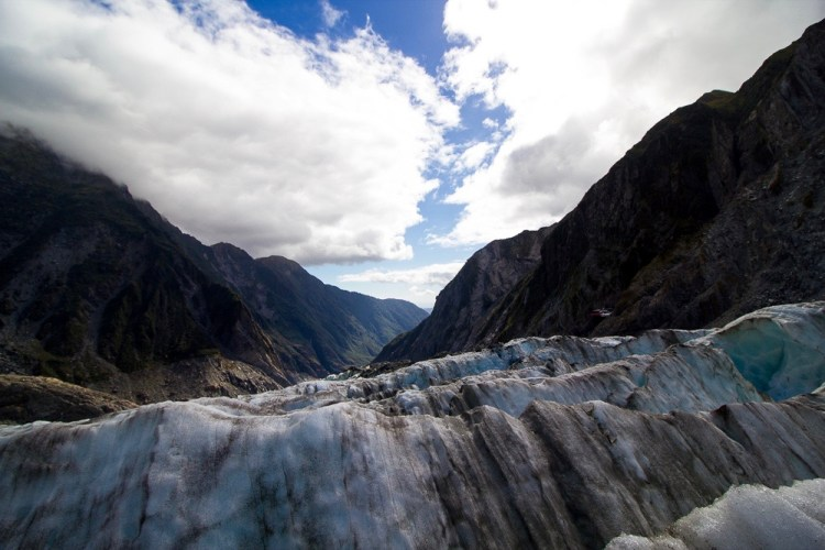Top of Franz Josef Glacier from hike