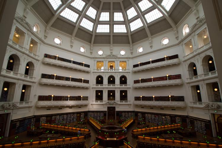 Visiting the Victoria State Library