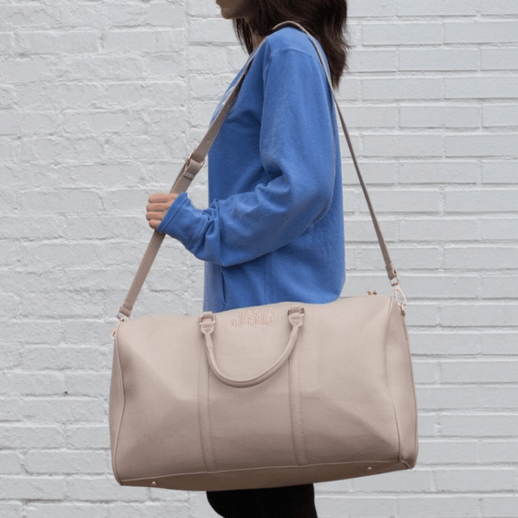 monogram weekender bag for travel