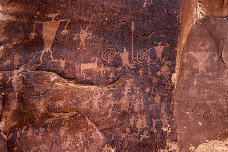 ancient petroglyphs in Canyonlands National Park