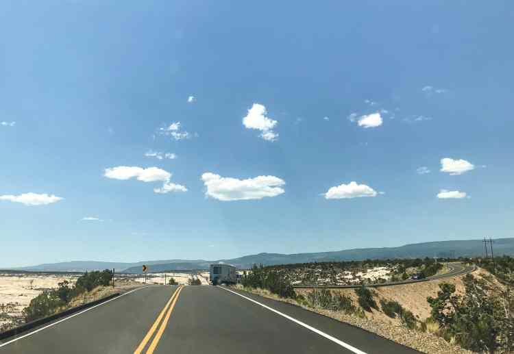 Road along byway 12 in utah