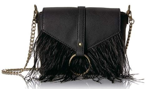 The Fix Courtney O Ring Feather Cross-Body Bag Best Amazon Prime Fall Purses + Bags