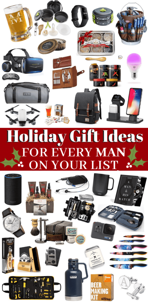 +70 Gift Ideas for EVERY Man on Your List - Holiday gifts for men - mens gift guide