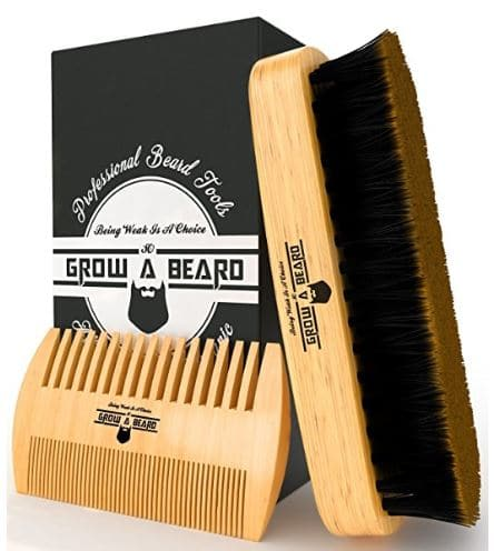 Mens Gift Guide: Beard Brush & Comb Set for Men