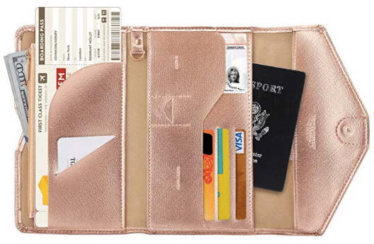 gifts for women: Zoppen RFID Blocking Passport Wallet